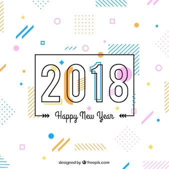 Fondo de estilo memphis para 2018