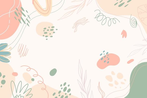 Fondo de estilo minimalista dibujado a mano