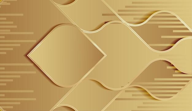 Fondo de estilo de onda abstracta de oro de lujo