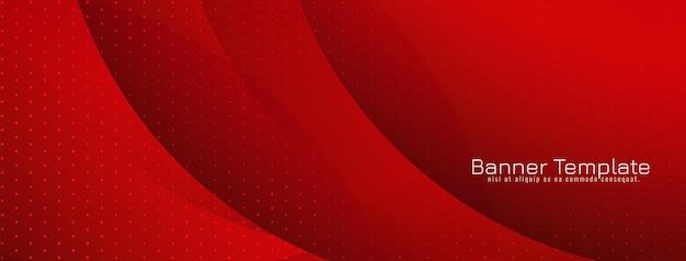 Fondo de estilo de onda de color rojo hermoso