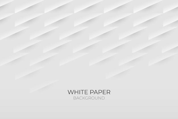 Fondo de estilo de papel 3d blanco