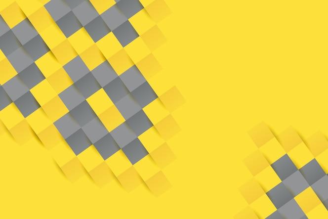 Fondo de estilo de papel amarillo y gris