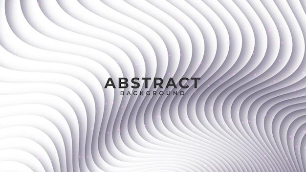 Fondo de estilo de papel de onda abstracto blanco