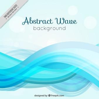 Fondo estiloso de olas celestes