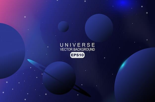 Fondo de estrella y cosmos de galaxia realista 3d