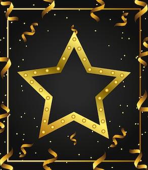 Fondo de estrella de oro