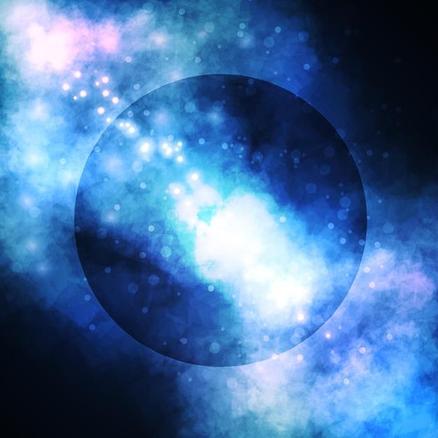 Fondo estrellado, rica nebulosa formadora de estrellas, colorida ilustración abstracta
