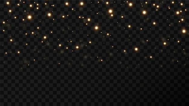 Fondo de estrellas de confeti dorado