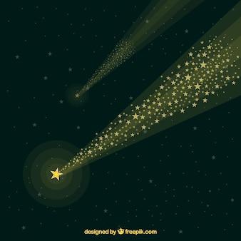 Fondo de estrellas fugaz en el espacio