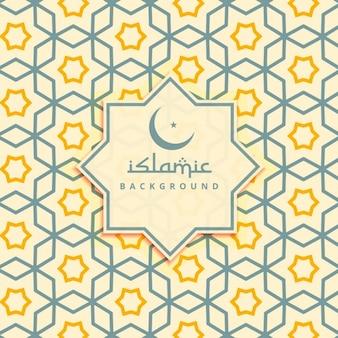 Fondo de estrellas islámicas amarillas