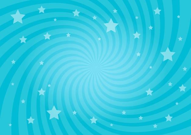 Fondo de estrellas radiales remolinos