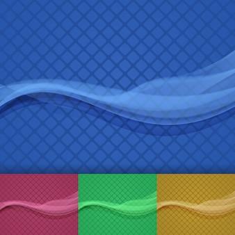Fondo estricto para documentos comerciales creativos. onda vectorial
