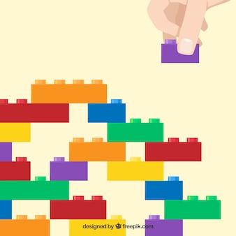 Fondo con estructura de bloques multicolor