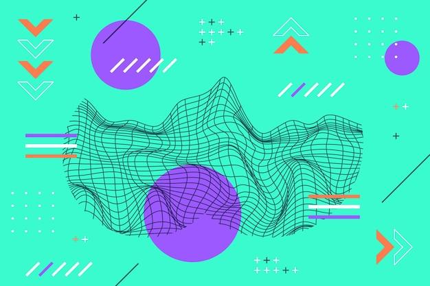 Fondo de estructura metálica abstracta de diseño plano
