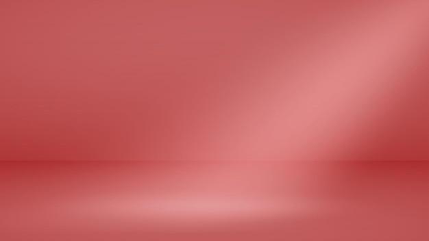 Fondo de estudio vacío con iluminación suave en colores rojos