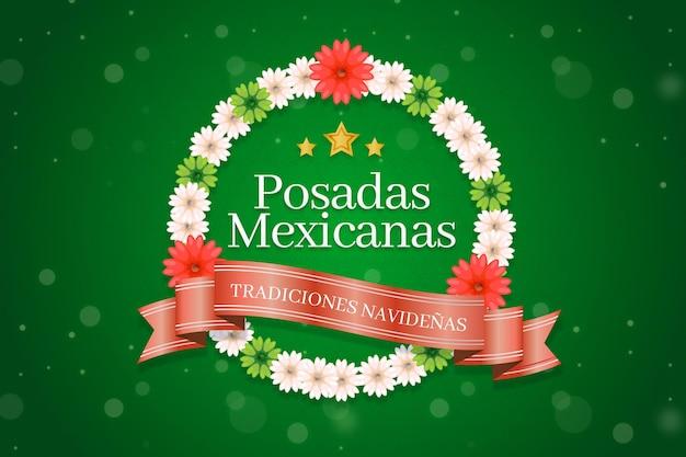 Fondo de etiqueta bokeh posadas mexicanas
