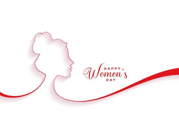 Fondo de evento creativo feliz día de la mujer