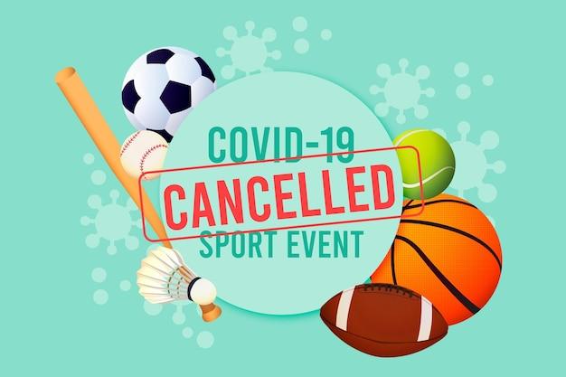 Fondo de evento deportivo cancelado