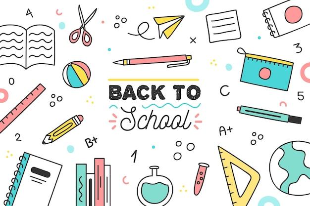 Fondo de eventos de regreso a la escuela