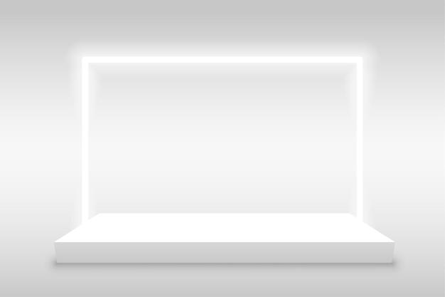 Fondo de exhibición de producto con marco de luz.