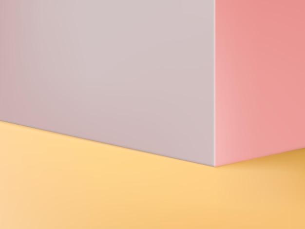Fondo de exhibición del producto con pared o esquina pastel