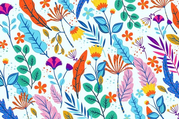 Fondo exótico de árboles abstractos coloridos