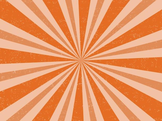 Fondo de explosión de color naranja retro grunge vintage