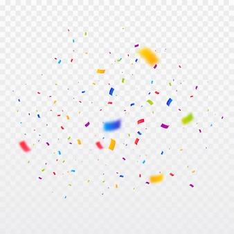 Fondo de explosión de confeti multicolor