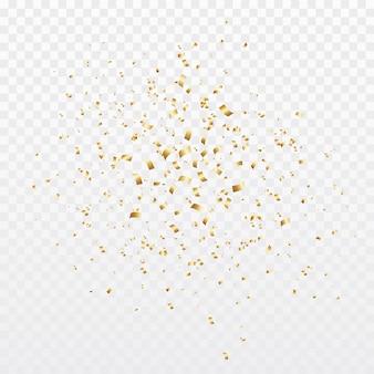 Fondo de explosión de explosión de confeti de oro