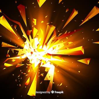 Fondo de explosión con luz en 3d