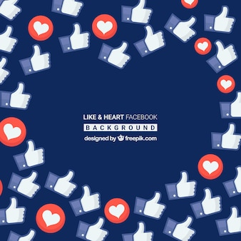 Fondo de facebook con iconos