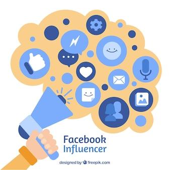 Fondo de facebook influencer