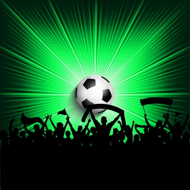 Fondo de los fanáticos del fútbol