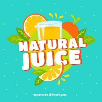Fondo fantástico de zumo natural