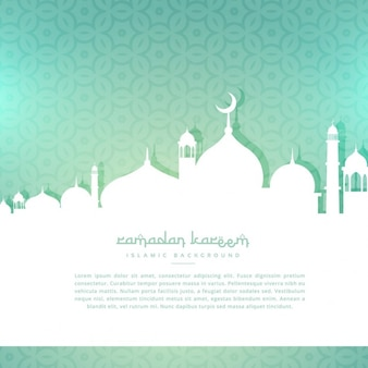 Fondo de felicitación de ramadan kareem