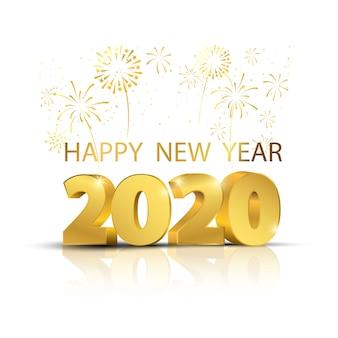 Fondo feliz año nuevo 2020