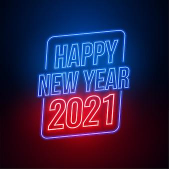 Fondo de feliz año nuevo estilo neón