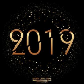 Fondo feliz año nuevo y feliz navidad