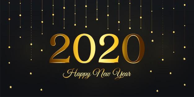 Fondo de feliz año nuevo de lujo 2020