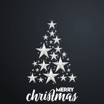 Fondo de feliz árbol de navidad
