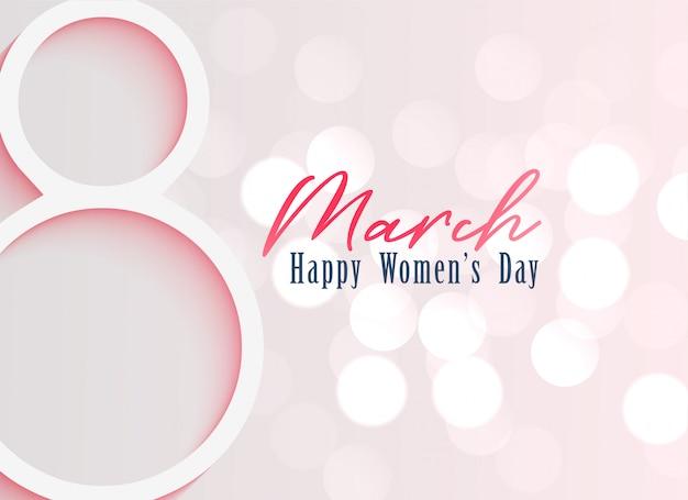 Fondo feliz celebración del día de la mujer.