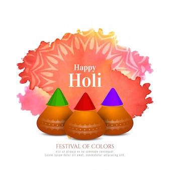 Fondo feliz celebración del festival holi