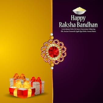 Fondo feliz celebración raksha bandhan