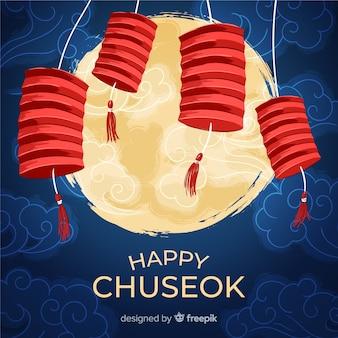 Fondo de feliz chuseok coreano
