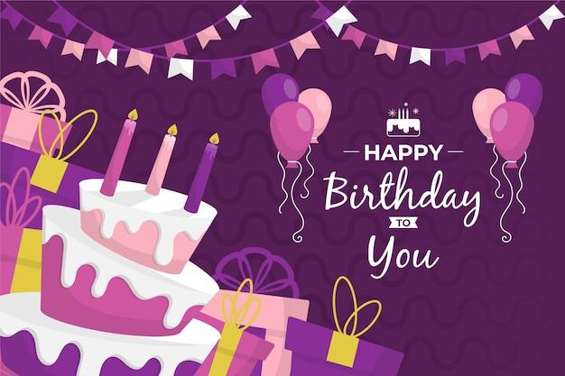 Fondo feliz cumpleaños con globos