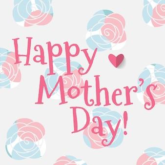 Fondo de feliz día de la madre con rosas