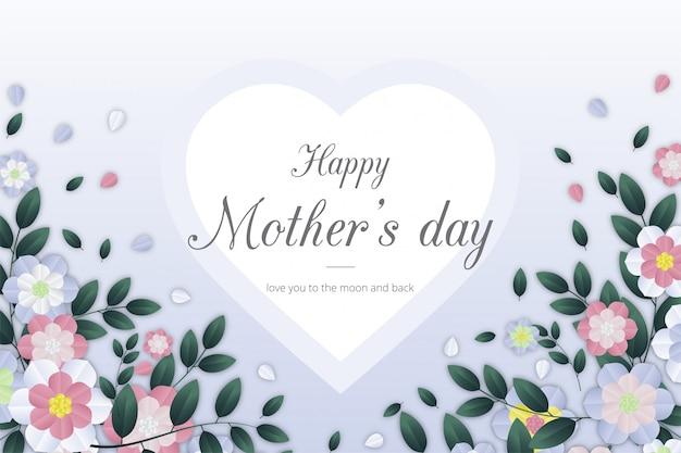 Fondo feliz dia de las madres con flores