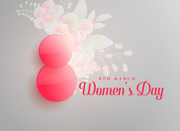Fondo de feliz día de la mujer 8 de marzo.