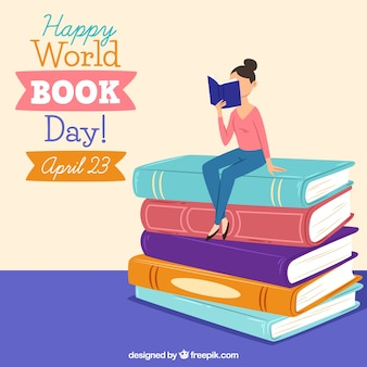 Fondo feliz día mundial del libro