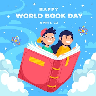 Fondo feliz del día mundial del libro